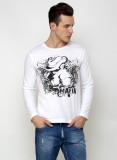 Rigo Printed Men's Round Neck White T-Sh...