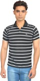 Skylark Striped Men's Flap Collar Neck B...