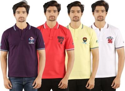 SAND BEACH Solid Men's Polo Multicolor T-Shirt