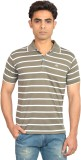 Skylark Striped Men's Flap Collar Neck G...