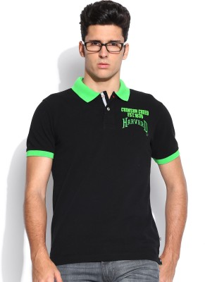 Harvard Solid Men's Polo Neck T-Shirt