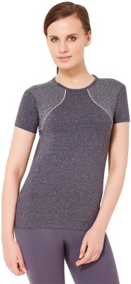 Amante Sports Short Sleeve Solid Women's Black Top