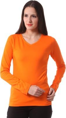 Fashionexpo Solid Women's V-neck T-Shirt