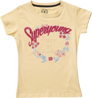 SuperYoung Printed Girl's Round Neck T-Shirt