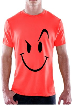 13th Avenue Printed Men's Round Neck Pink T-Shirt