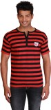Right Shape Striped Men's Henley Red, Bl...