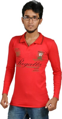 Harsha Printed Men's Polo Neck T-Shirt