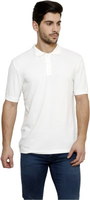 Desinvolt Printed Men's Polo White T-Shirt