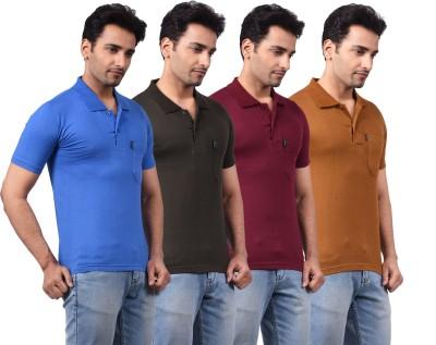 NG Tees Solid Men,s, Boy's Polo Multicolor T-Shirt