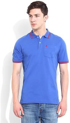 Blackberrys Solid Men's Polo Blue T-Shirt