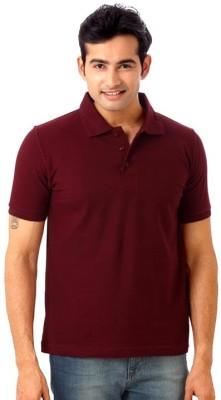 Gupta Polyplast Solid Men's Polo Maroon T-Shirt