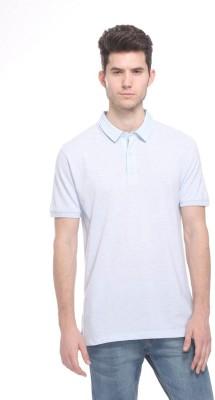 OCTAVE Solid Men's Polo Light Blue T-Shirt