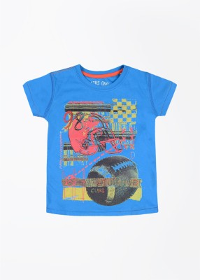 Status Quo Cubs Printed Boy's Round Neck Blue T-Shirt