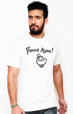 Sukhiaatma Graphic Print Men's Round Neck White T-Shirt