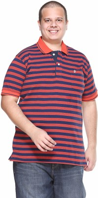 plusS Solid Men,s Polo Neck Red T-Shirt