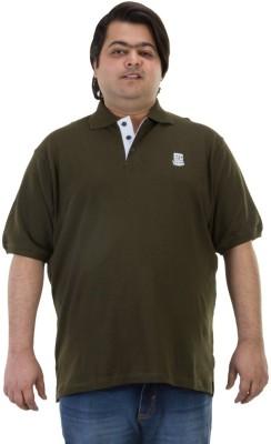 BIGBANANA Solid Men's Polo Dark Green T-Shirt