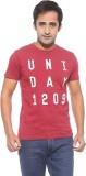 Pepe Printed Men's Round Neck Red T-Shir...