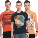 Rose Taylor Printed Men's Round Neck Mul...