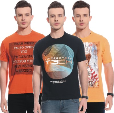 Rose Taylor Printed Men,s Round Neck Multicolor T-Shirt
