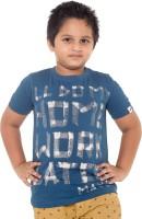 Menthol Boys Printed T Shirt(Dark Blue, Pack of 1)