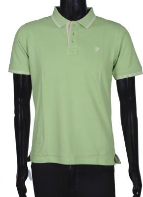 Bib & Tucker Solid Men's Polo Neck Light Green T-Shirt
