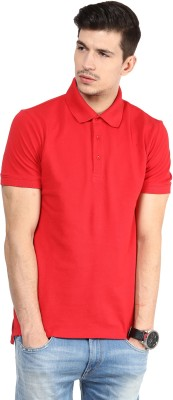 Yellow Submarine Solid Men,s Polo Neck Red T-Shirt
