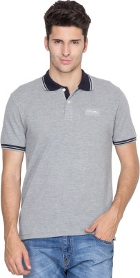Fort Collins Solid Men's Polo Neck Grey T-Shirt
