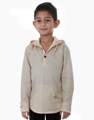 Ice Boys Solid Boy's Hooded T-Shirt