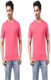 Regnum Solid Men's Round Neck Pink, Pink...
