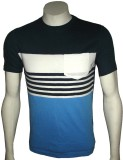 Cool Club Striped Men's Round Neck Multi...