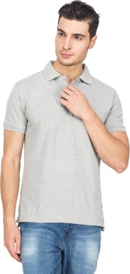 Derby Jeans Community Solid Men's Polo Neck Grey T-Shirt