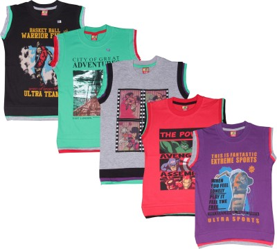Ultra Palio Printed Boy's Round Neck Multicolor T-Shirt