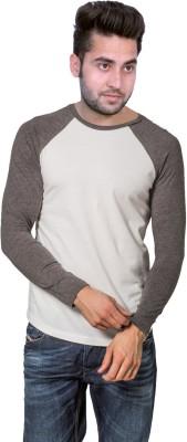 Martech Solid Men's Round Neck White, Grey T-Shirt