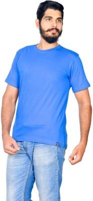 Indian Royals Solid Men's Round Neck Blue T-Shirt