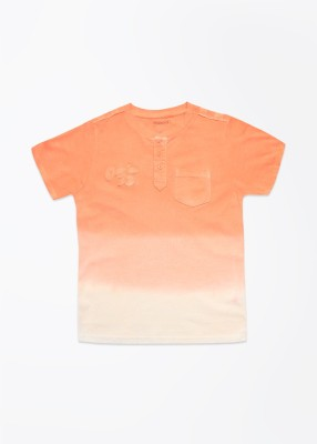Cherokee Kids Solid Boy's Henley T-Shirt