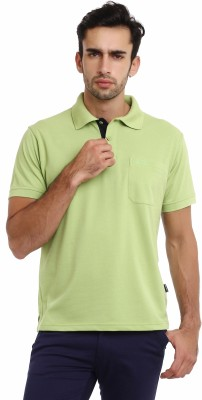 Classic Polo Solid Men's Polo Neck Light Green T-Shirt