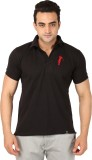 Filimore Solid Men's Polo Neck Black T-S...