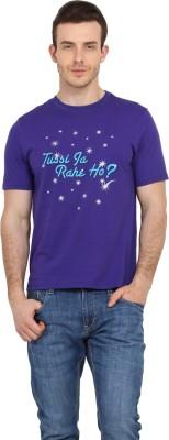 Filmwear Graphic Print Men's Round Neck Blue T-Shirt