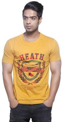 Fashnopolism Solid Men's Round Neck Yellow T-Shirt