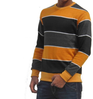 PIN POINT Solid Men's Round Neck Multicolor T-Shirt
