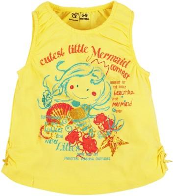 Mom & Me Printed Baby Girl's Round Neck T-Shirt