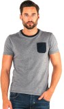883 Police Solid Men's Round Neck Blue T...