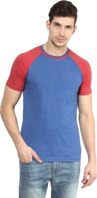 Yellow Submarine Solid Men,s Round Neck Blue T-Shirt