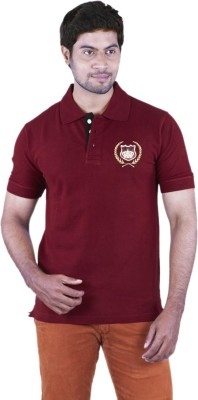 Bib & Tucker Solid Men's Polo Neck Maroon T-Shirt