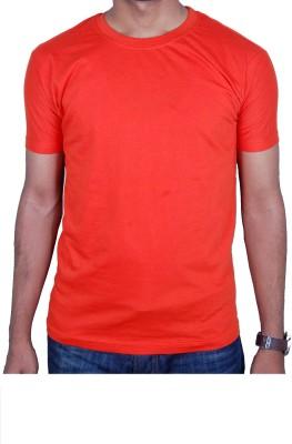 47B Woven Men,s, Boy's Round Neck Orange T-Shirt