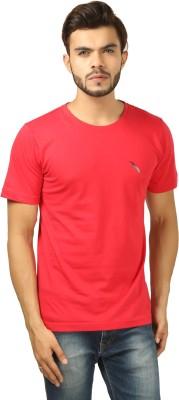BrownBird Solid Men's Round Neck Red T-Shirt