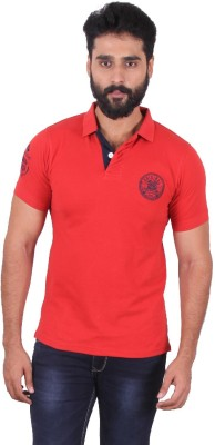 urbantouch Solid Men's Polo Neck Red T-Shirt