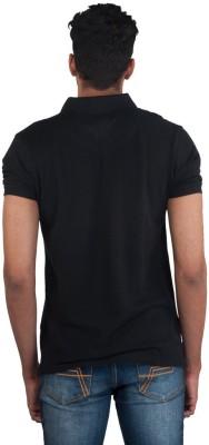 Provogue Solid Men's Round Neck Black T-Shirt