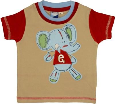 Myfaa Printed Baby Boy's Round Neck T-Shirt