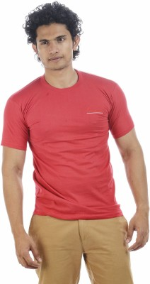 Shapers Solid Men's Round Neck Red T-Shirt
